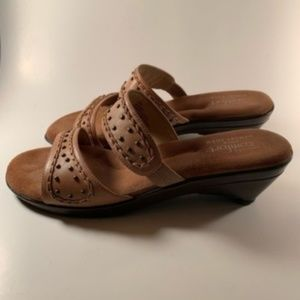 Strictly Comfort Leather Sandals Size 9